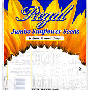 sunflower seeds resealable pouch