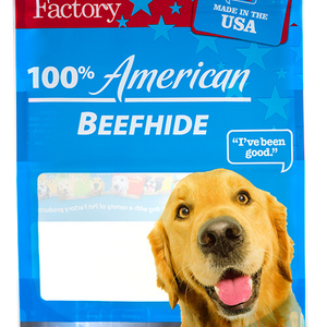 dog treat packaging with hang hole